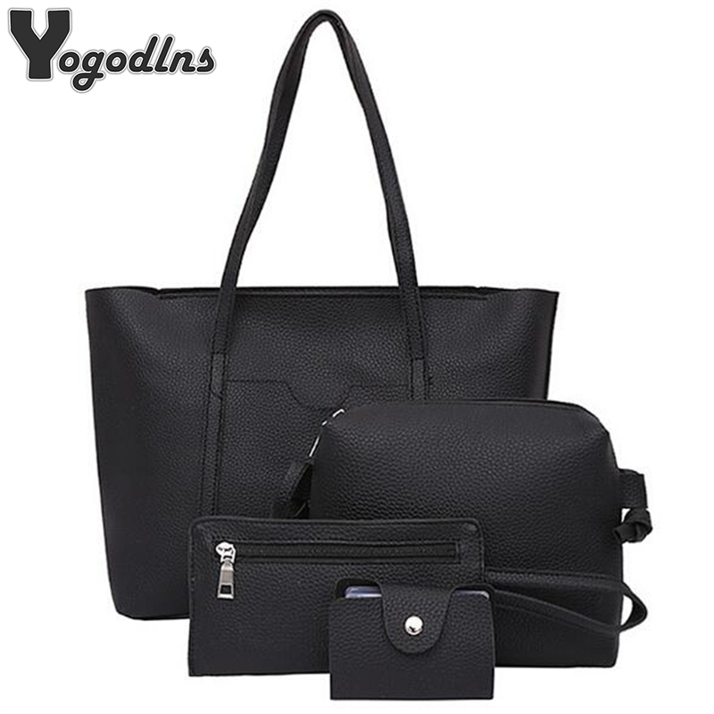 Fashion Designer Composite Bag 4 Bag/Set Women Bag Small Messenger Bag High Quality PU Leather Shoulder Handbags Winter Bag 2015 new fashion trend of women bag quality pu leather bucket bag portable shoulder messenger bag sweet personality small bag