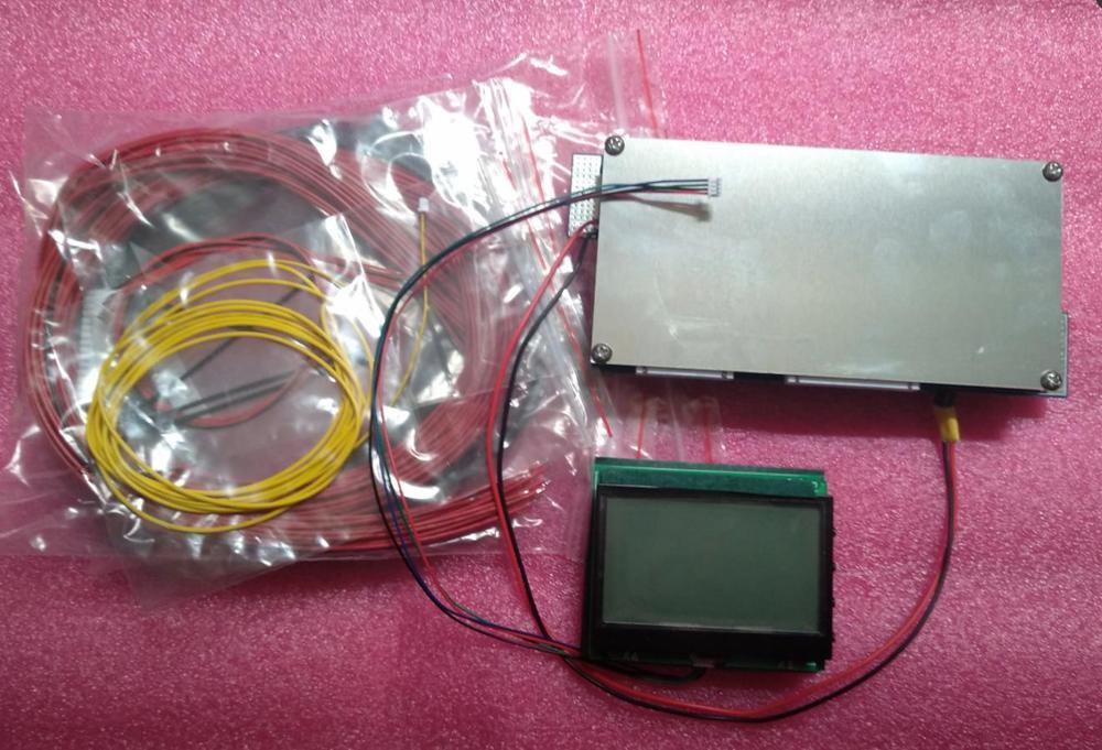 Affichage intelligent 70A 8 S 12 S 24 S cellules Lithium batterie panneau de Protection BMS Balance Coulomb mètre lifepo4 fer phosphate Li-ion APP