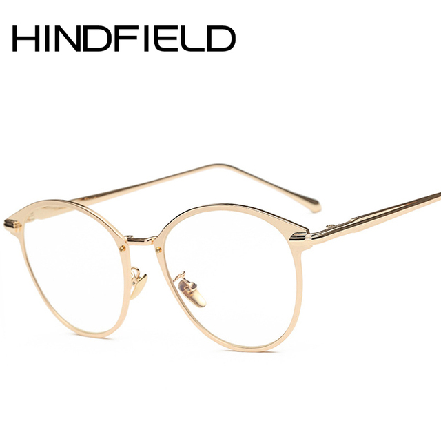 Hindfield 2017 High end Oval Transparent Glasses frames Women Metal ...