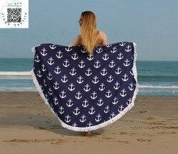 Sunbathe Round Beach Towels New Large Microfiber Printed Yoga Towel With Tassel Serviette De Plage Toalla Circle Playa shawl