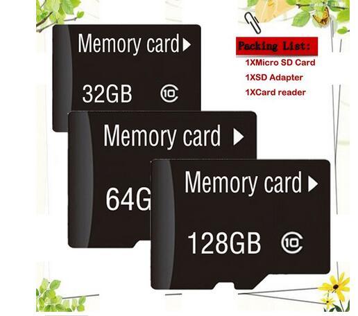 Wholesale Memory Cards Micro SD Card 1GB 2GB 4GB 8GB 16GB 32GB  Class 10 Microsd TF Card Pen Drive Flash + Adapter 50piece/1bag