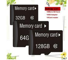 Wholesale Memory Cards Micro SD Card 1GB 2GB 4GB 8GB 16GB 32GB  class 10 Microsd TF card Pen drive Flash + Adapter 50piece/1bag стоимость