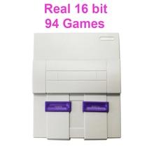 Real de 16 Bits Embutido 94 Jogos Mini Video Game Console para o Estilo SNES com Alien 3/Sonic/Selvagem Armas/Luta Final/Mega Man X, etc.
