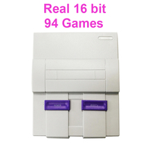 Real 16 Bit Built-in 94 Super Games Mini Video Game Console TV with Game Alien 3/Sonic/Wild Guns/Final Fight/Mega Man X, etc.
