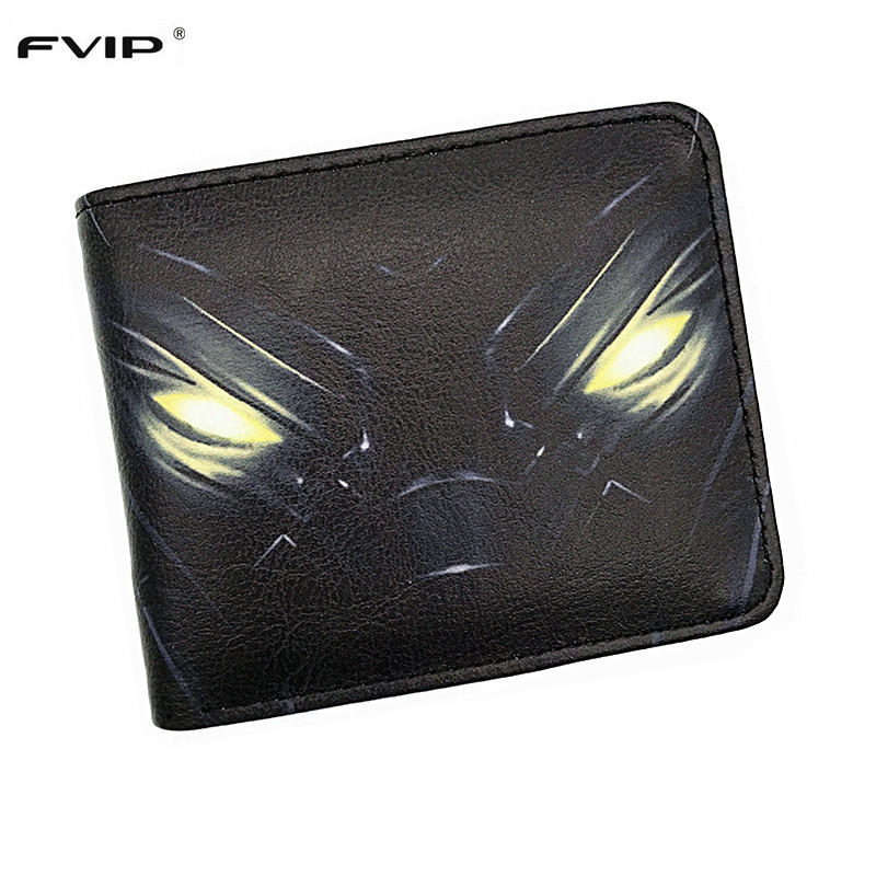 FVIP Comics DC Wallet Hero Superman Batman Red Robin The Flash Captain America Black Panther Iron Man Wallets With Coin Pocket dc marvel comics pencil wallets avengers hero captain america spider man iron man rectangle long pencil bag zipper pouch purse