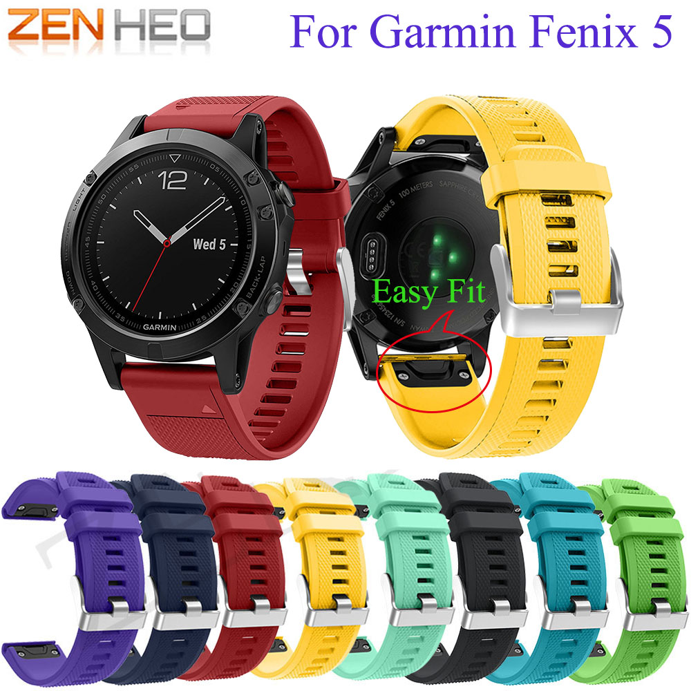 For Garmin Fenix 5/5 Plus 22MM Watchband For Garmin Fenix 6 Forerunner 935/945 Smart Watch Quick Release Silicone Strap Easy Fit