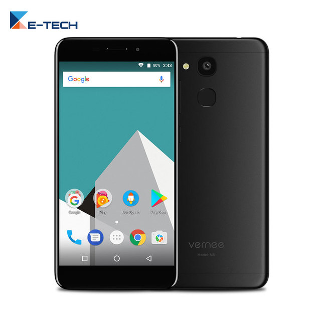 Vernee M5 MT6750 Octa Core 5.2 Inch Smartphone Android 7.0 1.5GHz 4GB RAM 32GB ROM 13MP Cell phone 4G Fingerprint Mobile Phone