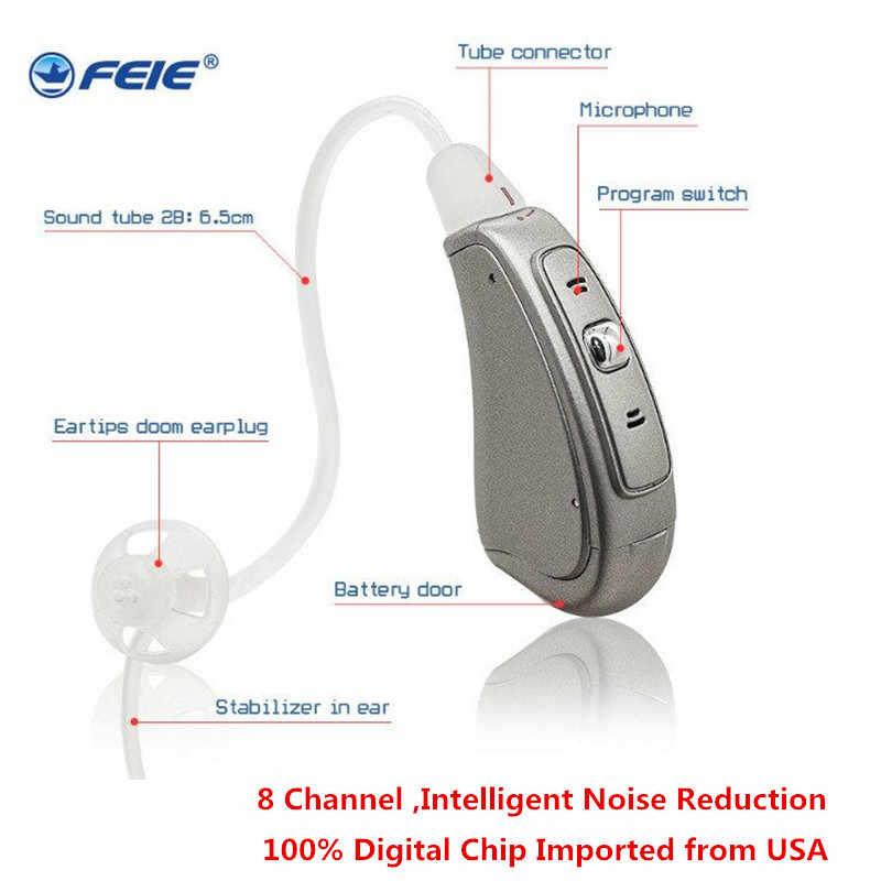 Mini Digital Programmable Ric Hearing Aid Headphones for ...