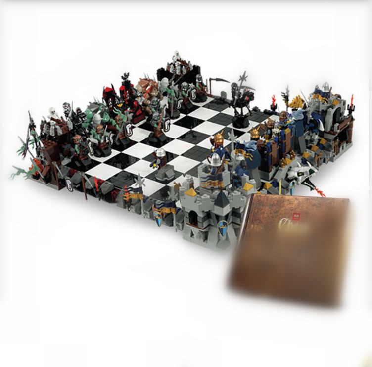 Lepin 16019 Genuine Movie Series The Castle Giant Chess Set 852293 Building Blocks Bricks Educational Toys As Christmas Kid Gift telecool 536 pcs knight series lion king castle 1010 building blocks brick kid toys gift in the pvc box compatible with lepin