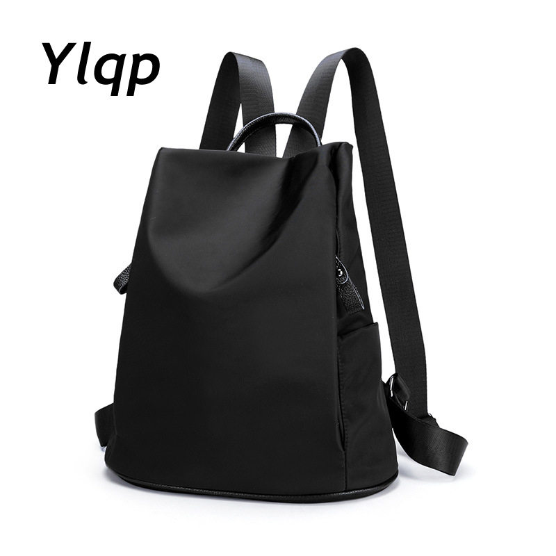 new 2017 waterproof nylon oxford cloth women backpacks shoulder bags leather backpack sac a dos. Black Bedroom Furniture Sets. Home Design Ideas