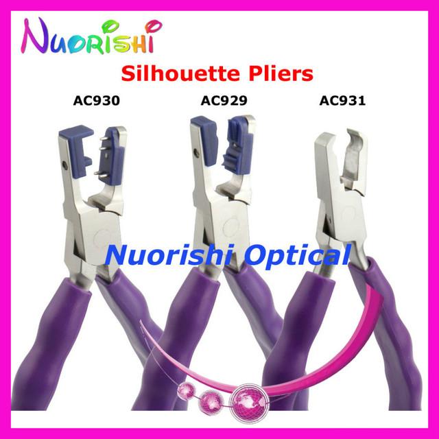Envío libre de calidad superior de goma anti slip mango silhouette alicates marco sin montura de los alicates AC929 AC930 AC931