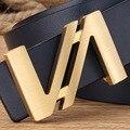 Дизайнерские ремни Мужчин Высокое Качество Натуральная Кожа Фирменное Пояса Латунь Письмо Пряжки Мужские Ремни Люкс Мужская Пояса Ceinture Homme MBT0302