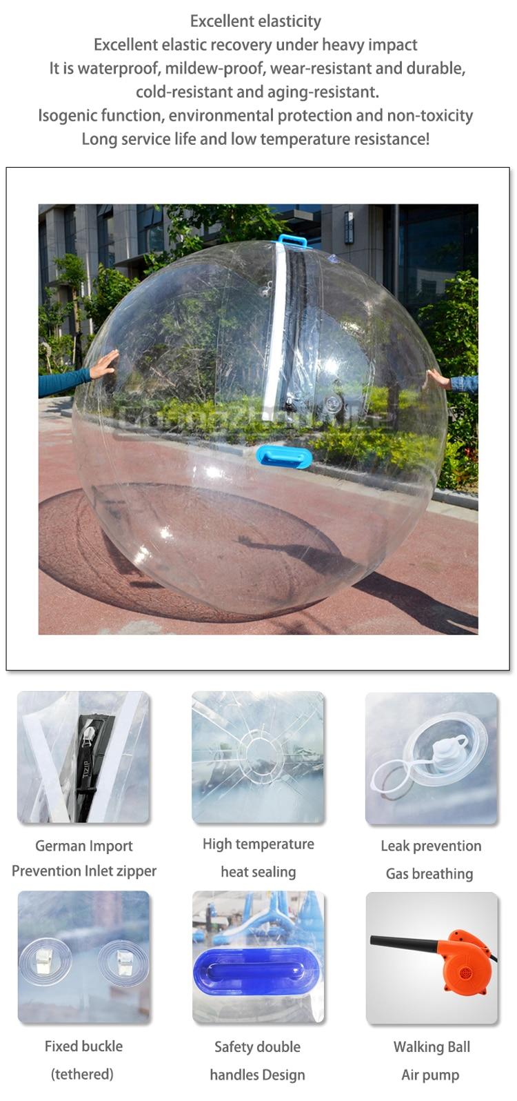 O Envio gratuito de 1.0 milímetros Tpu 2.0m Moda Waterballs Design