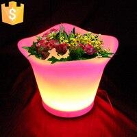 照明 LED 植木鉢 rgb led 植木鉢、 led ラウンド花瓶、 LED ビール樽 L32 * W32 * H27.2cm 送料無料 10 ピース/ロット