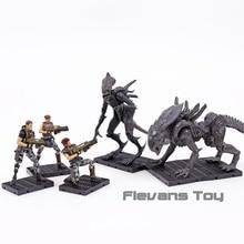 HIYA jouets figurines extraterrestres Colonial Cruz Bella Redding Xenomorph Raven broyeur 1:18, en PVC