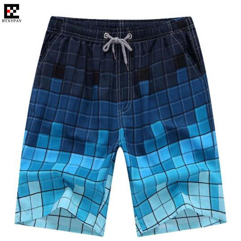200pcs Cool Summer Men Exercise Fitness Holiday Casual Shorts Quick-dry Loose Printed Board Shorts Beach Fifth Shorts Big Yards