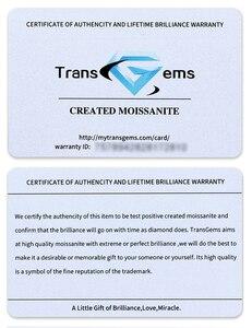 Image 5 - TransGems 10K Oro Bianco 2.2CTW Centro 1.2ct 7 millimetri e Lato 0.5ct 5mm F Colore Moissanite 3 Pietra anniversario di aggancio Anello