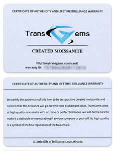 Image 5 - Transgemmes anneau danniversaire de fiançailles 3 pierres Moissanite 10K, or blanc, 2,2 ct, 7mm et côté 0,5 ct, 5mm F