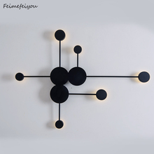 Postmodern wall lamp simple led living room wall lamp bedroom bedside lamp creative aisle hotel exhibition hall corridor lightin simple bedroom bedside led wall lamp creative aisle lamp living room snow acrylic lamp children room light free shipping