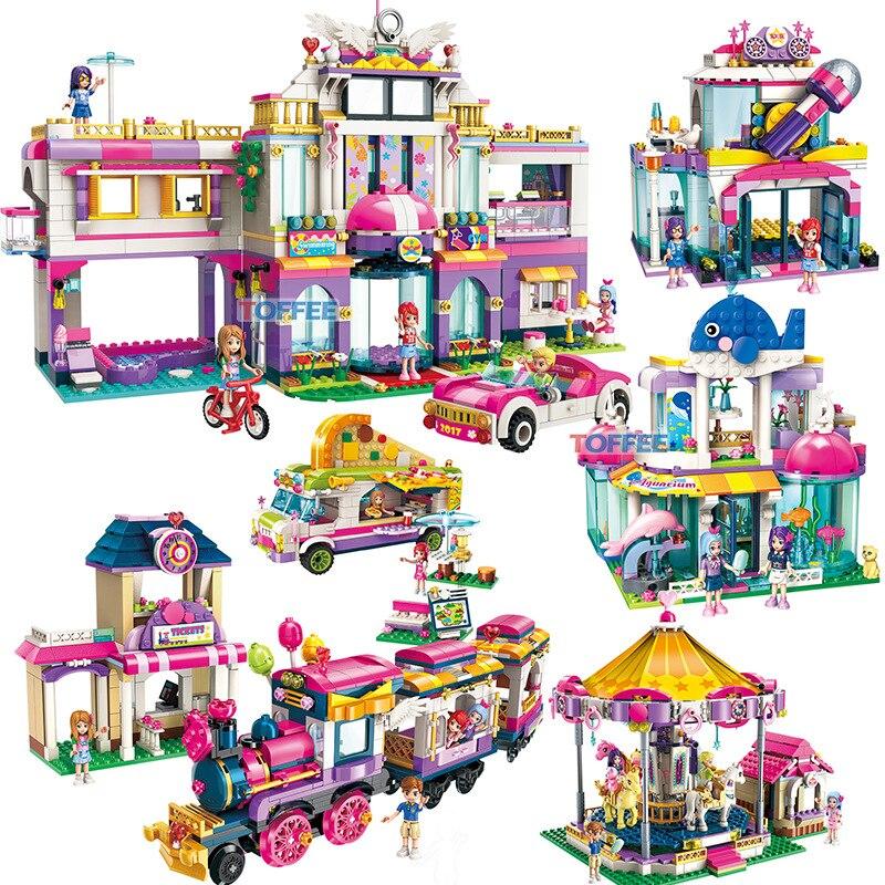 Jouets éducatifs pour enfants blocs de construction compatibles Legoing amis ville filles bricolage chiffres briques enfants cadeau d'anniversaire K13