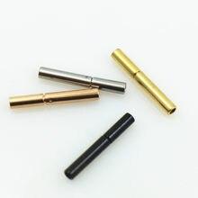 Cordon rond en cuir et métal plaqué Rhodium de 1.5mm, pour bricolage, recherche de bijoux, acier inoxydable