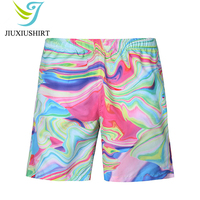 New Men Printed Beach Shorts Quick Dry Beachwear Running Shorts Swimwear Swimsuit Swim Trunks Sports Shorts Board Shorts M 2XL