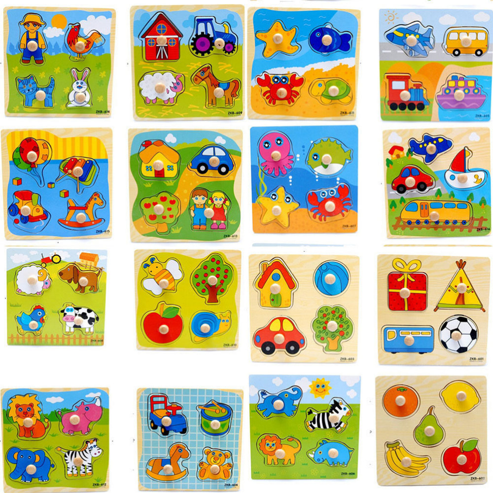 Colorful Jigsaw Puzzle Wooden Puzzles Animal Cartoon