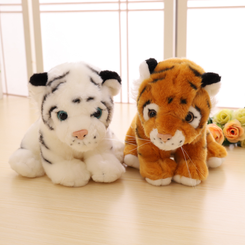 1PC Simulation Soft Stuffed Animals Tiger Plush Toys Pillow Animal Peluche Doll Cotton Kids Brinquedo Toys For Children Gift