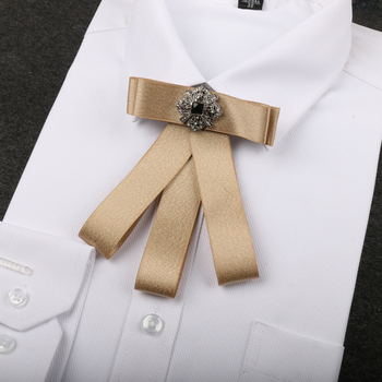 High-grade British men and women bow tie Dress up the groom's best bow tie random flamingos bow tie back circle dress