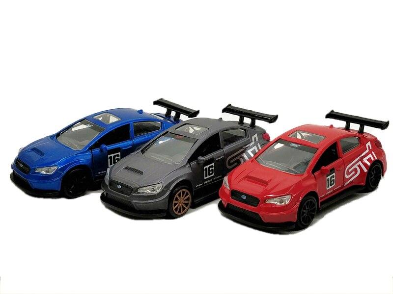 Coche de juguete de Metal fundido para niños sin caja 1:32 Jada Subaru 2016 WRX STI Jada-simulador de Metal clásico, juguete de aleación fundida, coches de juguete clásicos para niños, colección de regalos de cumpleaños 1:24