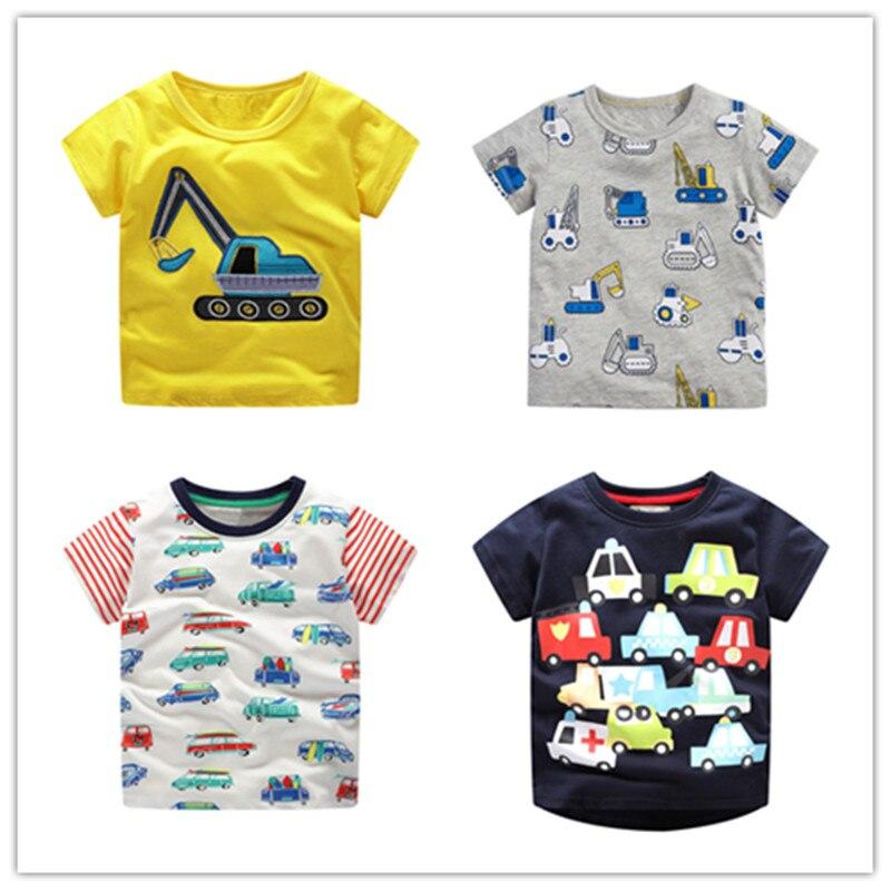 VIDMID Children Short Sleeve T-shirt Tees Boys Car Summer Short Tees Tops For Kids Clothing Baby Boys Crocodile Cotton T-Shirt