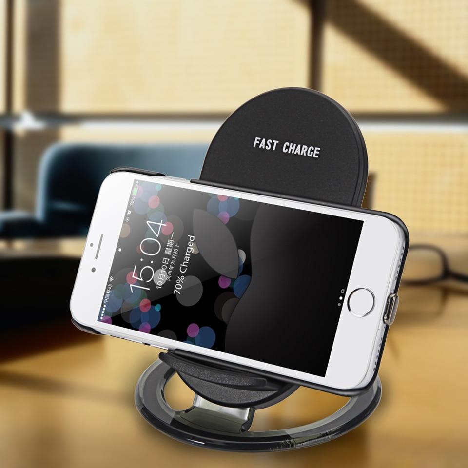 Amstar Qi Wireless-Ladegerät 10W / 7,5W Dual Coils Schnellladegerät - Handy-Zubehör und Ersatzteile - Foto 4