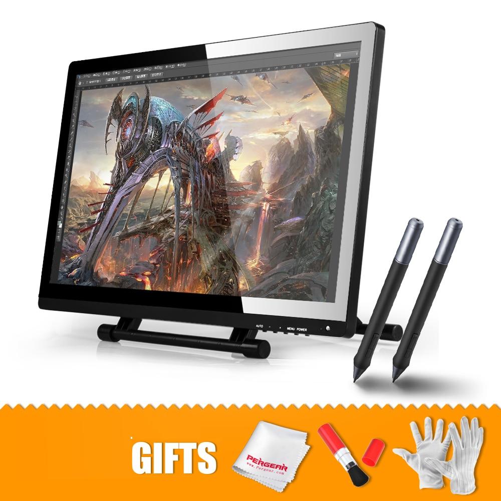 2 ручки оригинальный UGEE UG 2150 графический монитор Книги по искусству планшет для рисования 21,5 ips монитор 1920x1080 HD Дисплей + набор для чистки