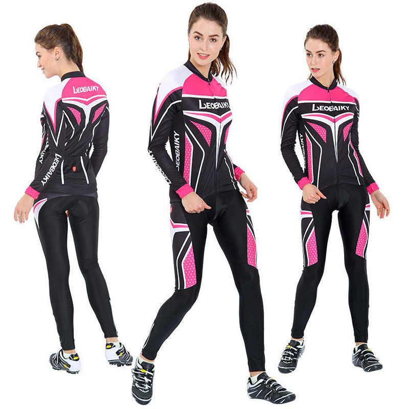 Jesień wiosna z długim rękawem kobiety odzież rowerowa Mtb Pro koszulka drużynowa rower kombinezon do jazdy oddychająca sukienka rowerowa damska odzież sportowa