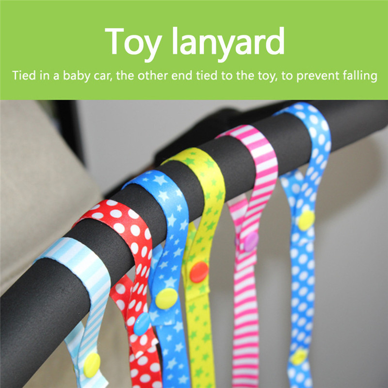 Baby Pacifier Chain Toys Anti-Drop Strap Stud-Snap Rope Baby Safety Seat Cart Supplies Anti-drop Rope For Baby Care