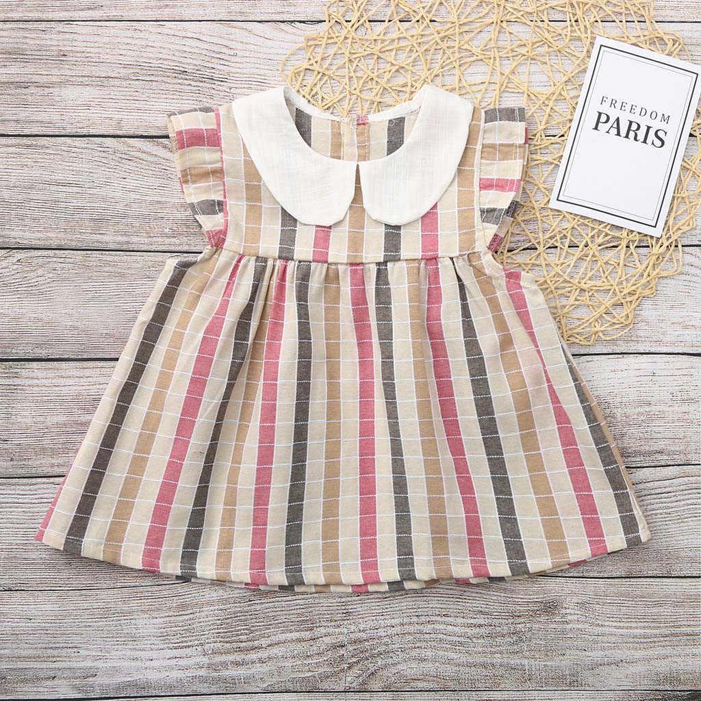 Camisa de cuadros de niña para niños pequeños camiseta de princesa Casual Tops ropa