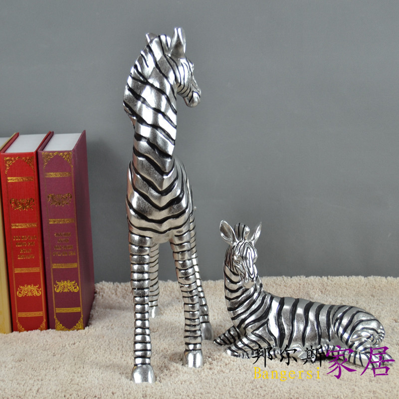 Living Room Sets Zebra Ornaments Home Decor Furnishings Decoration  Housewarming Gifts Zebra Mother And Warmth At Least 300 By 30 In Shoe  Decorations From ...