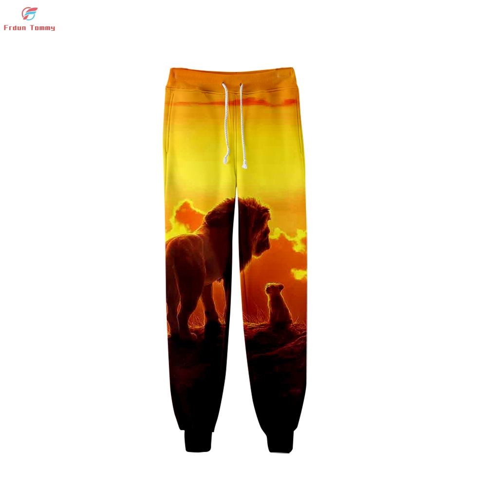 The Lion King Simba 3D Print Clothes Wrapped Pants 2019 Tops Hot Sale Spring Women And Men Warm Sweatpants Jogger  Kpops Pants