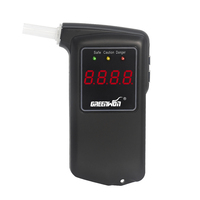 Free Shipping 2014 New High Accuracy Prefessional Police Digital Breath Alcohol Tester Breathalyzer AT858 With 5