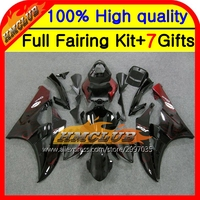 Body Red Flames Body For YAMAHA YZFR6 YZF 600 06 07 YZF R 6 06 07