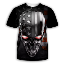PLstar Cosmos Skull/American flag 3D Print Hoodie/Sweatshirt/Jacket/shirts Mens for Womens Tees hip hop black apparel