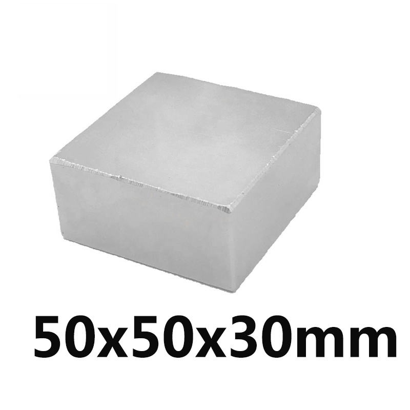 1pc 50x50x30 Strong Rare Earth Cubic Block square Rare Earth Neodymium Magnets 50x50x30mm Permanent 50*50*301pc 50x50x30 Strong Rare Earth Cubic Block square Rare Earth Neodymium Magnets 50x50x30mm Permanent 50*50*30