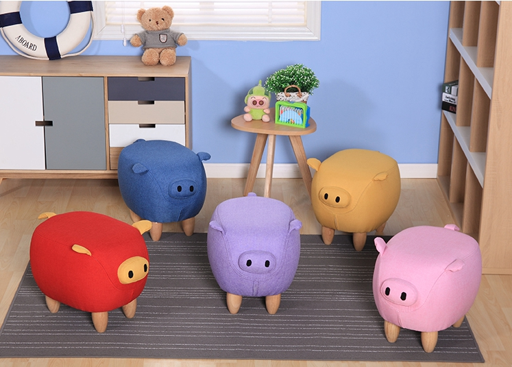 2018 New Cute Aminal Stool Pig Ottoman Washable Small Living Room Chair  Children Furniture Made In China In Stools U0026 Ottomans From Furniture On ...