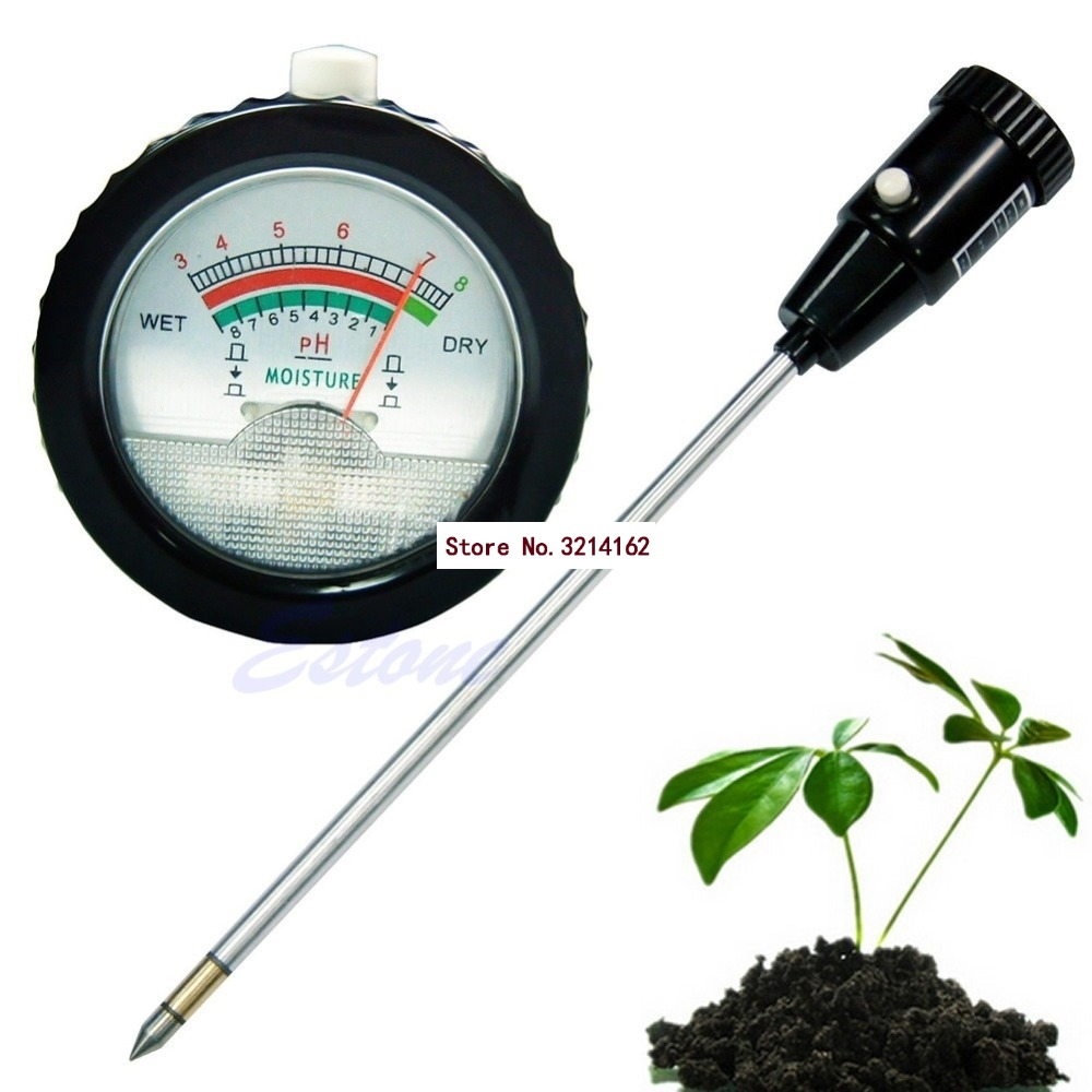 Long Water Quality Plants Soil PH Moisture Meter Tester Hydroponics Analyzer 07NOV