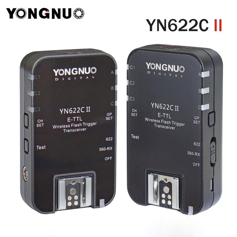 2pcs YONGNUO YN622C II ETTL Flash Trigger for Canon 6D 7D 700D 650D 500D Compatible with