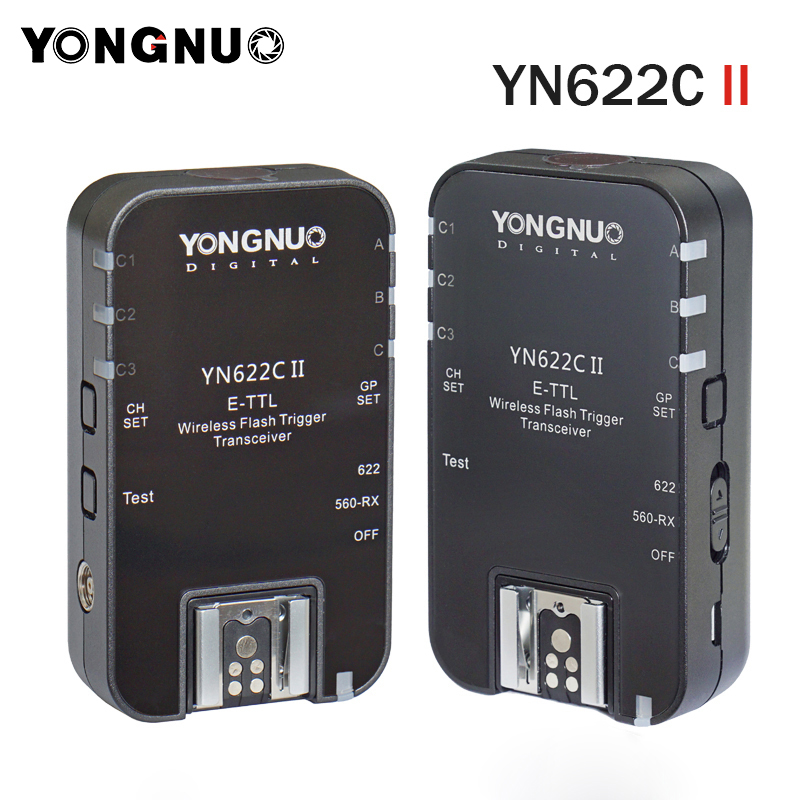 2 шт. YONGNUO YN622C II ETTL вспышка триггера для Canon 6D 7D 700D 650D 500D, совместимый с YN622C-TX YN560-TX RF-603 II RF-605