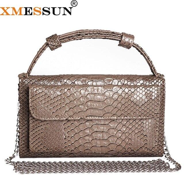 De cuero genuino embrague patrón de cocodrilo embrague Python patrón bolsa de hombro del bolso de Crossbody de avestruz patrón de bolso