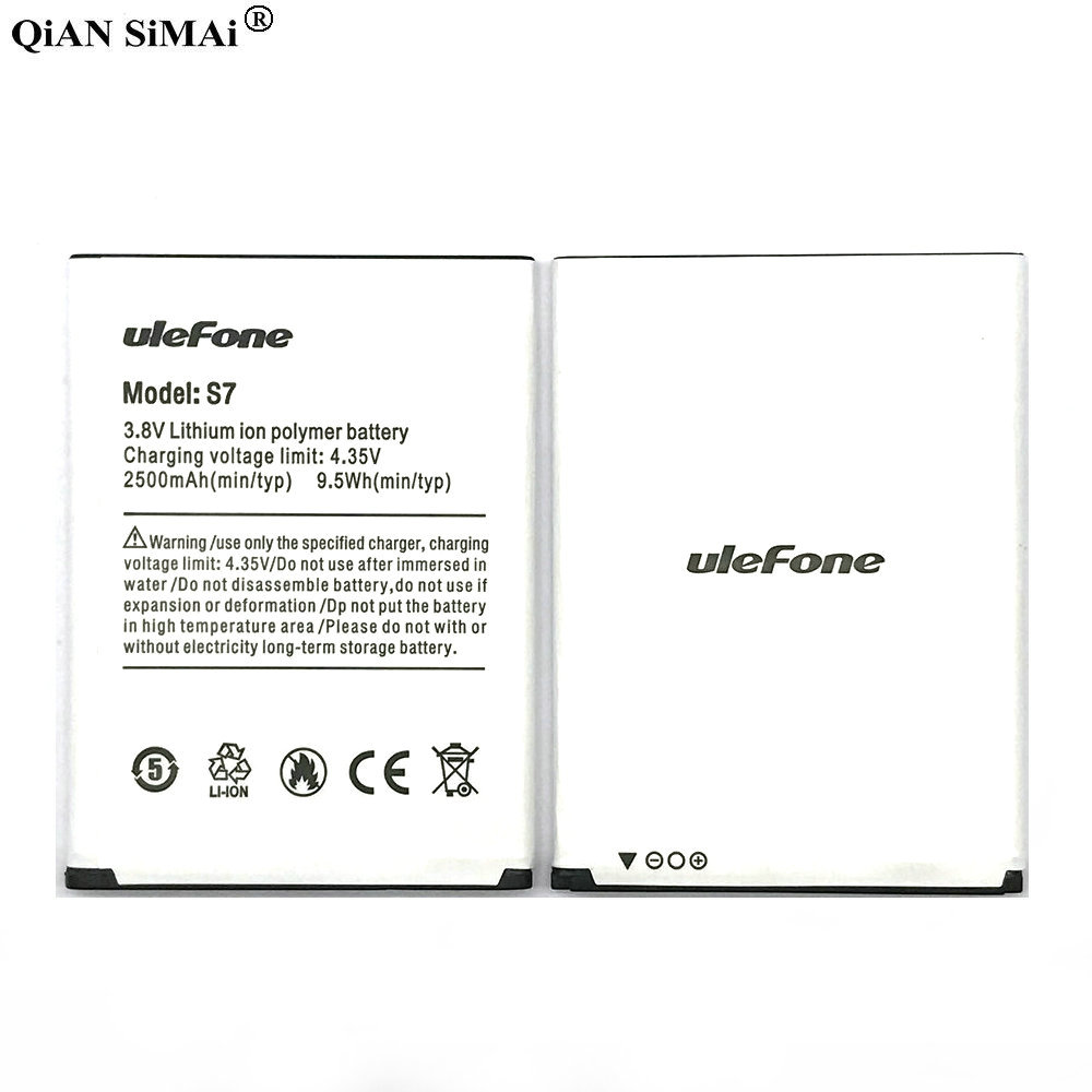 New High Quality 2500mAh Battery For Ulefone S7 Phone Battery + Tracking Number