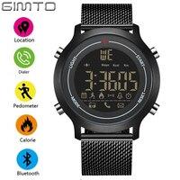 GIMTO Sport Smart Watch Men Digital Bluetooth Pedometer Calories Smartwatch Waterproof Alarm Clock Mens Watches Top