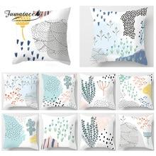 Fuwatacchi Cartoon Cactus Floral Print Cushion Cover  Matisse Plant Home Decorative Pillows Sofa Car Chair Pillowcase